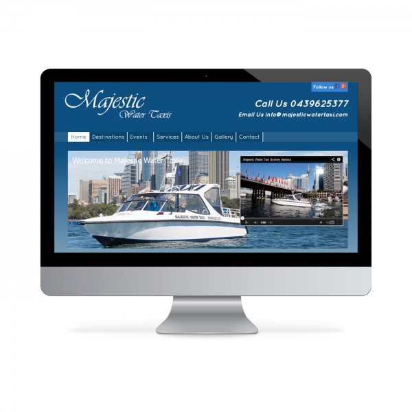 Majestic Water Taxi Website